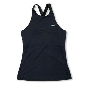 Stronger Label Tank Top Small Black